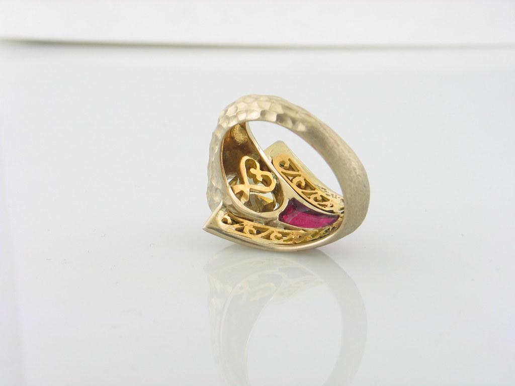 Back Shot of Unique Handmade Men's Ring