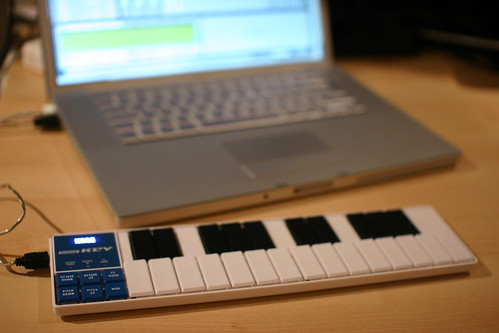 Laptop and Korg NanoKey