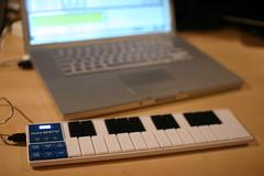 Laptop and Korg NanoKey (acb) Tags: music keyboard personal bokeh laptop korgnanokey