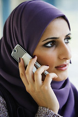 42-19459590 (lilmasternabeel) Tags: people 1 women telephone headscarf hijab cellphone access females adults connectivity connection convenience communications mobility arabs headgear youngadults telephoning midadult 20sadult 2530years midadultwoman 3035years 30sadult youngadultwoman headcloth