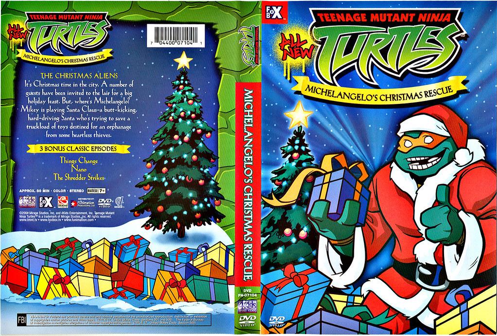 Michelangelo's Christmas Rescue ..DVD wrap-around (( 2004 ))