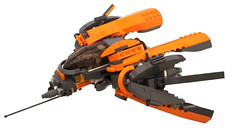 """""""Sneak Preview"""" Narukami- IDATEN (Hase0) Tags: anime japanese fighter ship lego space pirate orbital spaceship spacecraft smexy shipspace"""