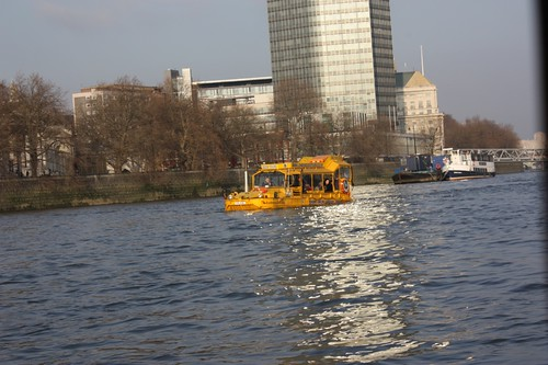 On the Duck Tour in the Thames