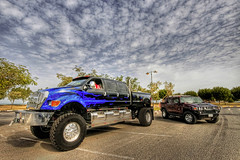 Beasts !! (YOUSEF AL-OBAIDLY) Tags: cars ford car truck big hummerh2 hummer h2 1020 f650 supertruck   fordf650 anawesomeshot aplusphoto worldcars  flickrestrellas  teacheryousef   f650supertruck