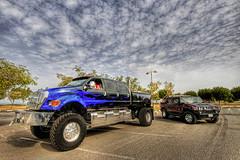Beasts !! (YOUSEF AL-OBAIDLY) Tags: cars ford car truck big hummerh2 hummer h2 1020 f650 supertruck   fordf650 anawesomeshot aplusphoto worldcars  flickrestrellas  teacheryousef   f650supertruck