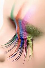 Eyelashes colorful Iphone wallpaper