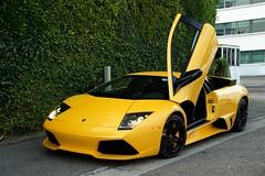 Pearl Yellow Lamborghini LP640 (j.hietter) Tags: california black car yellow wheels hills whole exotic giallo beverly pearl lamborghini coupe supercar midas wholecar frontangle lp640
