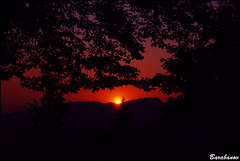 sunset from Burnaby Mountain (Miss Barabanov) Tags: blue trees sunset pordosol sky mountain canada nature twilight nikon bc britishcolumbia natureza burnaby burnabymountain olympics montanha canad rvores 2010 luscofusco greatervancouver crepuscula d80
