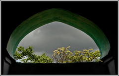 .... (flickrohit) Tags: trees shadow india black green window yellow clouds trek fort maharashtra rohit rohitgowaikar chandangad