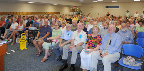 "Crowd at the Saint Louis County Library, Headquarters Branch, in Ladue, Missouri, USA - book signing for ""Catholic St. Louis: A Pictorial History"""