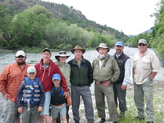 3 generations of Kellehers @ Klamathon Lodge with guides Gabe Duran, Craig Nielsen and Alan Blankenship