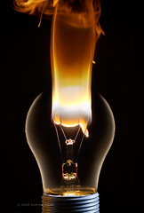 Death of an Idea (. Andrew Dunn .) Tags: light lamp lightbulb electric bulb studio smoke flash burn electricity tungsten burnout blowout incandescent filament fail interestingness101 i500 challengeyouwinner cyspecialchallengewinner blownbulb