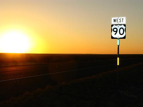 Highway US90 near Langtry, Texas, USA