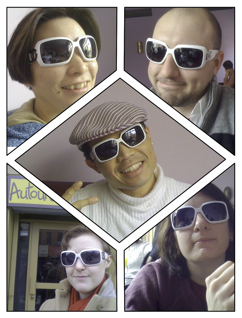 Me and friends in silly white shades