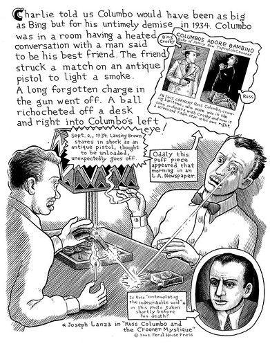 "Deitch's Pictorama (coming in July 2008) - page from ""The Cop on the Beat, the Man in the Moon and Me"""