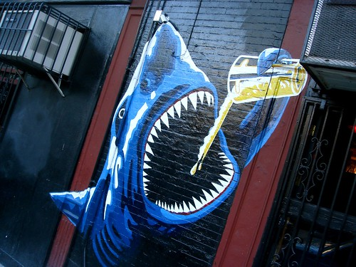 Beer-drinking shark
