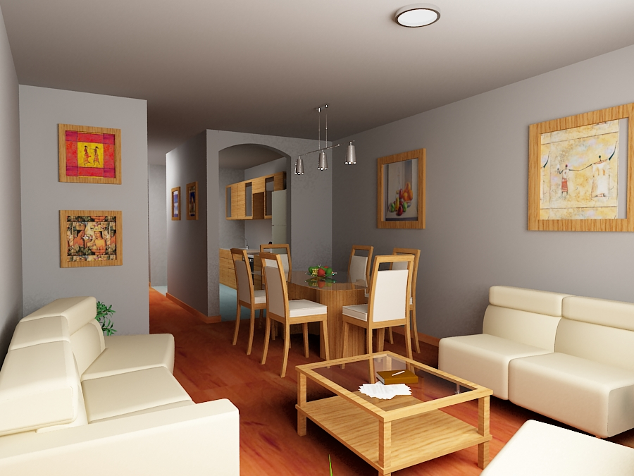 G3d animation studios: sala comedor   departamento en trujillo