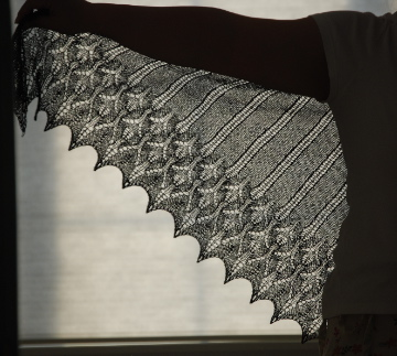 Icarus Shawl, finished