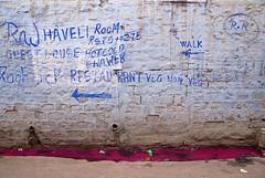 Holi day, afternoon, Jodhpur (Katarzyna Rostalska) Tags: pink blue india wall asia gutter holi jodhpur rajastan kahros katarzynarostalska rostalska akssak