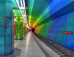 Candidplatz - Mnchen  V/V (yushimoto_02 [christian]) Tags: art station architecture canon germany underground subway munich mnchen geotagged deutschland rainbow arquitectura europe metro transport tube tunnel ubahn architektur munchen bahn hdr muenchen regenbogen architectura candidplatz colorphotoaward exploredcanonpowershotg7