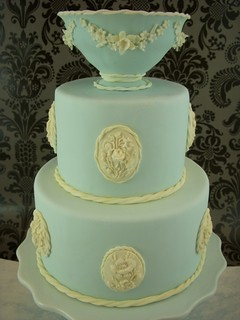 Wedgewood cake closeup