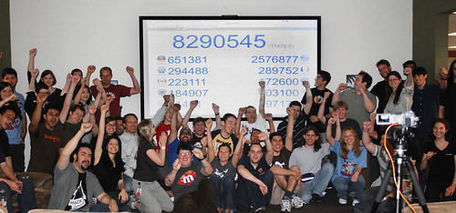 The Mozilla team at Download Day HQ as the attempt period wrapped! (Photo courtesy of Clare Bayley)