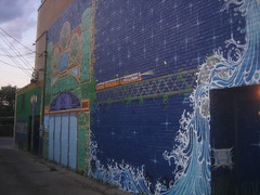 Riverview Theater Mural by Jesse Stone
