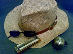 I've got all this cool stuff - why aren't I cool???!! (dark_dave25) Tags: hat cool blues shades mic harp wannabe harmonica eggstatic