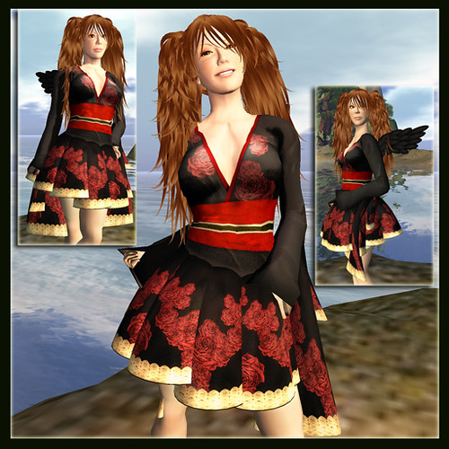 Bare Rose Free GL Kimono