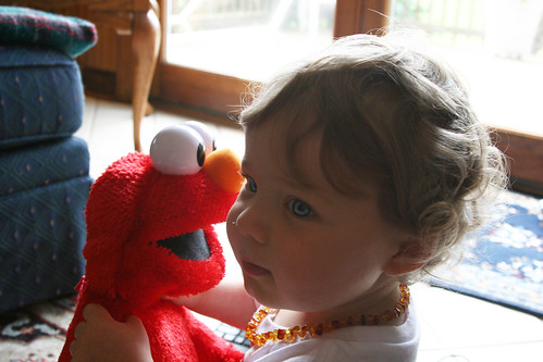 Ian and his new talking Elmo