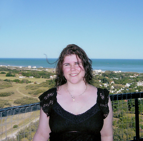 Katie atop the lighthouse by katiemetz, on Flickr