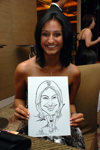 caricature live sketching for wedding dinner 120708  - 38