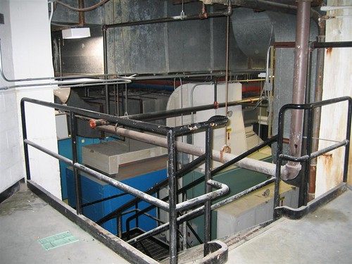 Basement utility room