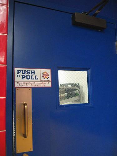Behind the Burger King counter