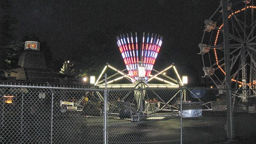 Kiddieland Amusement Park at night. Melrose Park Illinois. July 2008. by Eddie from Chicago
