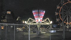 Kiddieland Amusement Park at night. Melrose Park Illinois. July 2008.