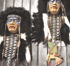 Triabl Warriors & Bird (LostMyHeadache: Absolutely Free *) Tags: wood people canada colour bird art texture face wall beads paint hand dress post native head handmade spirit interior indian feathers first jewelry canadian made indoors trading firstnations designs hanging banff inside braids symbols 2008 selling carvings nations furs paneling selective nativeart selectivecolour davidsmith indianart tradingpost tribalart digitalcameraclub firstnationspeople facepain lostmyheadache creattivit