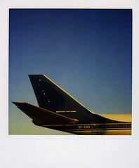 SX-70_AI_22 (Vassilis Makris) Tags: polaroid sx70 airport athens elliniko attiki greece savepolaroid boeing 747 jumbo jet