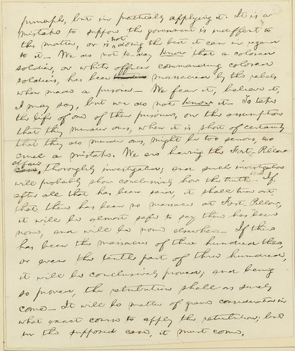 Manuscript of Lincoln's Baltimore Address, ca. April 1864 (p3)