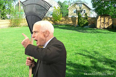 Sen. John McCain yelling at those damn kids to...