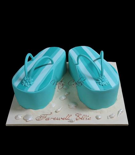 Thongs Farewell Cake - Flip Flops