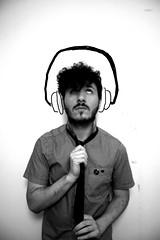 Me#09 (Left-koz) Tags: biancoenero headphone ragazzo cuffie cravatta