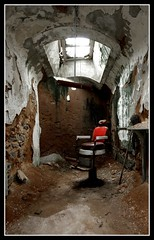 Cellblock Dentistry (earthmagnified) Tags: urban abandoned stone rust decay neglected cell historic prison jail weathered fairmount exploration dentist eastern abandonment infamous alcapone inmate scarface easternstatepenitentiary penitentiary cellblock capone urbex incarceration nationalhistoriclandmark dentistschair