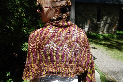 Shawl back shot