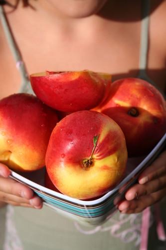 Nectarines Rôties Coeur Craquelin de Pistaches -