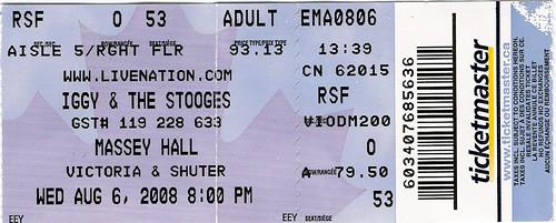 Iggy & The Stooges Concert Ticket