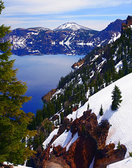 Crater Lake (awrightlpc) Tags: lake snow mountains nature beautiful oregon crater wonderworld worldbest photocontesttnc08