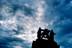 Brno sky (morten almqvist) Tags: sky statue day cloudy sigma brno communist vystaviste 1530mm sd14