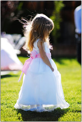 Shy Flower Girl (Extra Medium) Tags: wedding glow quiet princess shy flowergirl coy younggirl rimlight cutedress debbietim 85mm14d