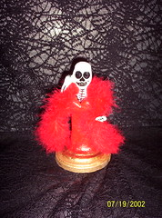 Paper Mache' Lady in Red (Senora Muertos) Tags: folkart mexicanfolkart halloweenskeleton senoramuertos halloweenfolkart skeletonlady diadelosmuertosdayofthedeadskeleton ladyinreddayofthedead sexyladyinred